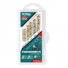 طقم ريش حديد 6 قطعة توتال TACSD0605