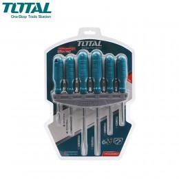 طقم مفكات 6 قطع توتال THTDC250601