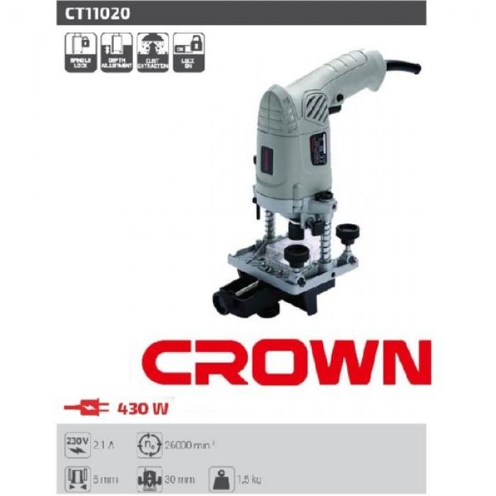 مكينة حفر راوتر 6 مم CT11020 - كراون